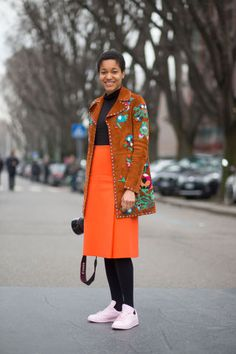 See the best street style looks spotted today at Milan Fashion Week, here: