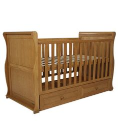 East Coast Langham Sleigh Cot Bed - complete with under storage drawer   Kiddicare (£304)