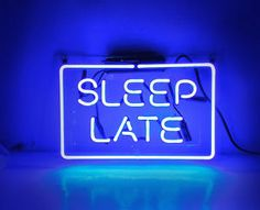 late night lounge designs | SLEEP-LATE-Room-Party-Beer-Bar-Club-Decor-Artwork-Poster-Neon-Light ...