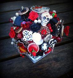 Button Bouquet  Rockabilly Tattoo by RubyDoodlesJewellery on Etsy, £125.00