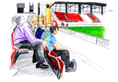 5 top tips for drawing football in motion  To celebrate the beginning of the World Cup, we asked Alice Devine from football illustration collective The Illustrated Game for her advice on sketching in the stands