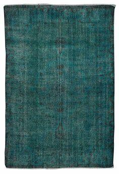 Gorgeous colour! Turquoise Carpet - 9.6 x 6.3 feet (294 cmx 192 cm)Handmade Rug in Dark Turquiose Color $1199