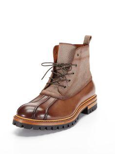 #GiftMe Antonio Maurizi Leather Textured Duck Boot