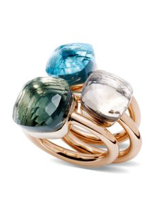 I love all three color of this gold rings with the blue quartz ring, clear quartz ring, and green quartz ring. Ladies it's crucial to protect your jewelry with a jewelry armoire