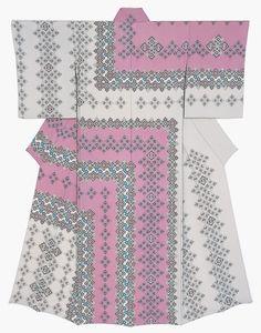 Kimono by National Living Treasure of Japan, SUZUTA Shigeto (1954-)