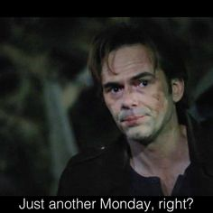 Episode revolution Hmm, just another Monday for you maybe, Miles. Daniella Alonso, Billy Burke, Tracy Spiridakos, Jj Abrams, Revolution, Fictional Characters, Instagram, Fantasy Characters