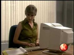 Woman goes back to work after many years....  Too funny! Is only 4 seconds long....