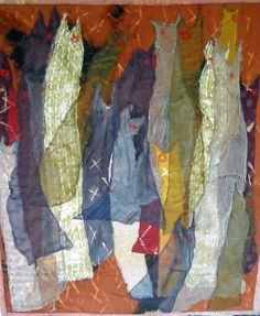 My Grandmother's Dresses II art quilt Lorie McCown