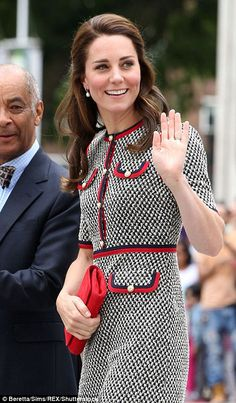 Kate added a hint of colour to her cheeks with a sweep of blusher