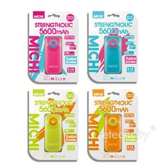 Michi 5600 mAh Strengtholic Color Mix Power Bank [PPA-MCH5600C] - $46.00