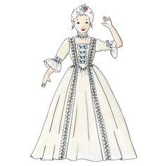 Patron couture robe de marquise princesse 4,5,6,7,8,9,10 ans - A&A Patrons Cinderella, Disney Princess, Disney Characters, Princesses, Marie, Carnival, Elegant Dresses, Princess, Disney Princes
