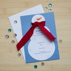 Snowman birthday invitations. Winter wonderland snowman invitations. Unique…