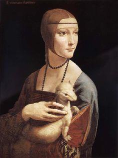 LEONARDO da Vinci Lady with the ermine