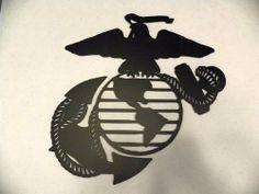 Home Decor Sculptures, Wall Sculptures, Usmc, Marines, Marine Corps Emblem, Pirate Bedroom, Paint Metal, Metal Wall Art Decor, Semper Fi