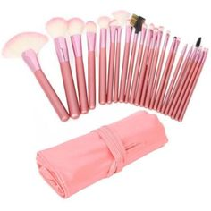 22 pcs Pro Cosmetic Makeup Brush Set with Pink Bag *** See this great product. (This is an affiliate link) #ToolsAccessories