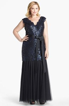 Wholesale Prom Dresses - Buy Exquisite Popular Plus Size Appliques Sequins A-Line V-Neck Zipper Tull Floor-Length Party Prom Dresses Evening...