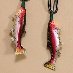 Fishing on pinterest rainbow trout trout and fish for Fish string lights