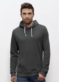 Drizzle men's #hoodie in Anthracite. This #lightweight beauty is #fairtrade and made from 100% #organiccotton. Made in Pakistan.