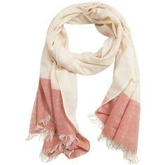 Stripe-Pattern Cotton Scarf featuring polyvore, women's fashion, accessories, scarves, cotton shawl, striped shawl, cotton scarves and striped scarves