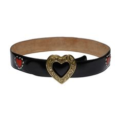 Moschino by Redwall Vintage Leather Heart Belt