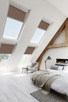 Cute Home Decor Pay a visit to our page for way more pertaining to this brilliant skylight installation Attic Bedroom Designs, Bedroom Loft, Bedroom Styles, Bedroom Decor, Skylight Bedroom, Cute Home Decor, Cheap Home Decor, Interior Architecture, Interior Design