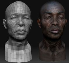 Places to visit in 2019 face topology, character design, artwork.
