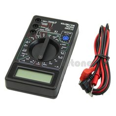 F85 Free Digital Multimeter with Buzzer Voltage Ampere Meter Test Probe DC AC LCD New