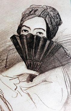 Portrait de George Sand par Alfred de Musset.
