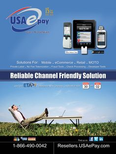 USAePay - Reliable Channel Friendly Solution for your POS system, mobile and retail payment needs and more through our secure payment gateway.