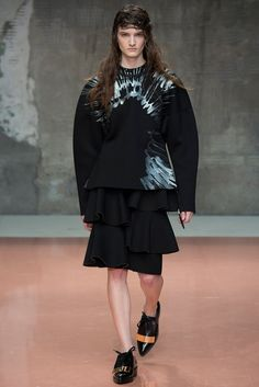 Marni Fall 2014 Ready-to-Wear Fashion Show - Carly Moore