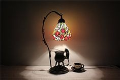 World6inch rose small lamp Tiffany table lamp study lamp living room lamp bedroom lamp Features * Check out this great product.