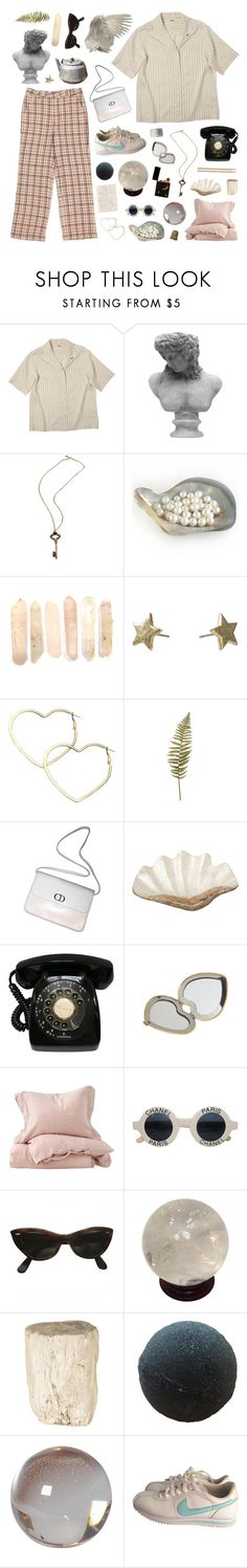 """sweet creature"" by golden-rod ❤ liked on Polyvore featuring Visionnaire, Ugo Cacciatori, Mint, Thalia Sodi, Christian Dior, Clips, Pearl Dragon, Aerie, Ellos and Chanel"
