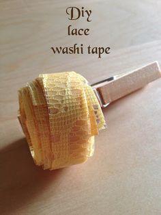 DIY washi tape di pizzo fai da te – DIY  lace washi tape | Parola di Laura