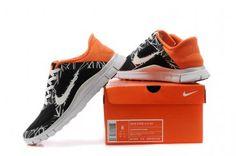 a8009ce808af Nike Free 4.0 V3 Mens Shoes Black White Orange - Click Image to Close Nike  Shoes