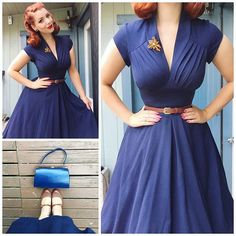 Tuesdays outfit details 💙 dress from @misscandyflossofficial, shoes from @baitfootwear, belt from Kmart and brooch and bag are vintage 💙💙💙