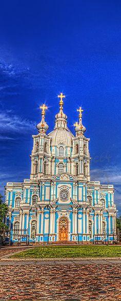 The Smolny Convent, Saint Petersburg, Russia