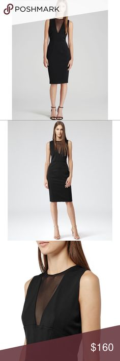 Reiss Black Dress Brightwell Paneled Bodycon Sz. 8 Reiss Black Dress Brightwell Paneled Bodycon Sz. 8. new with tags. Classy and Sexy at the same time. Ummmm hashtag Fabulous oh yeah #fabulous #lbd #dress #girlmeetsthrift Reiss Dresses
