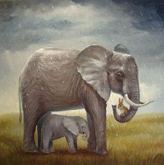 ☆ Isabella and The Elephants :¦: Artist David Joaquin ☆