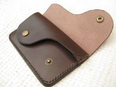 Leather wallet by UniqueSaddlery on Etsy