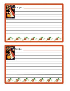 Cute Recipe Cards  Cute Halloween Recipe Card Printable