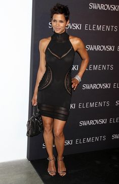 Halle Berry Cocktail Dress  Halle Berry showed off her stunning curves in a cut out LBD while hitting a New York City event.   Brand: Roberto Cavalli