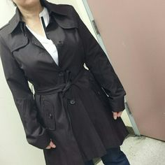 Chocolate brown DKNY medium Lined in perfect condition.  Brand new no tags. DKNY Jackets & Coats