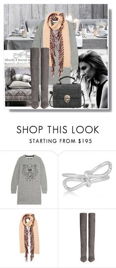"""""""Gray matters"""" by lidia-solymosi ❤ liked on Polyvore featuring Kenzo, Balenciaga, Burberry and Gianvito Rossi"""