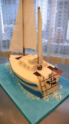 3D Sail Boat Cake by CAKE Amsterdam - Cakes by ZOBOT, via Flickr