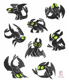 Night Fury Doodles by pichiicake.tumblr.com