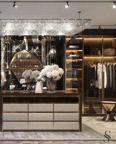 Portfolio: Moroccan house in warm colors Walk In Closet Design, Wardrobe Design Bedroom, Master Bedroom Interior, Closet Designs, Luxury Home Decor, Luxury Interior Design, Interior Modern, Dressing Room Design, Luxury Closet