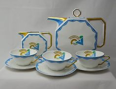 Robert Haviland Limoges Art Deco tea set