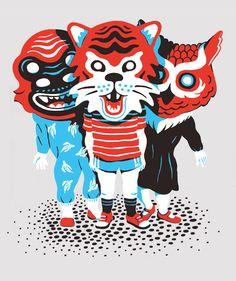 Portuguese artist Mother Volcano sweater illustration for Mingo Lamberti. https://www.behance.net/gallery/11042095/Kids