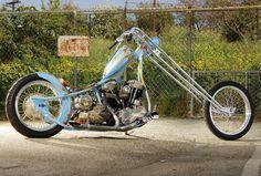 Jesse James Gold Digger Custom Choppers, Custom Motorcycles, Custom Bikes, Powered Bicycle, West Coast Choppers, Harley Davidson Panhead, Drag Bike, Harley Bikes, Biker Chick