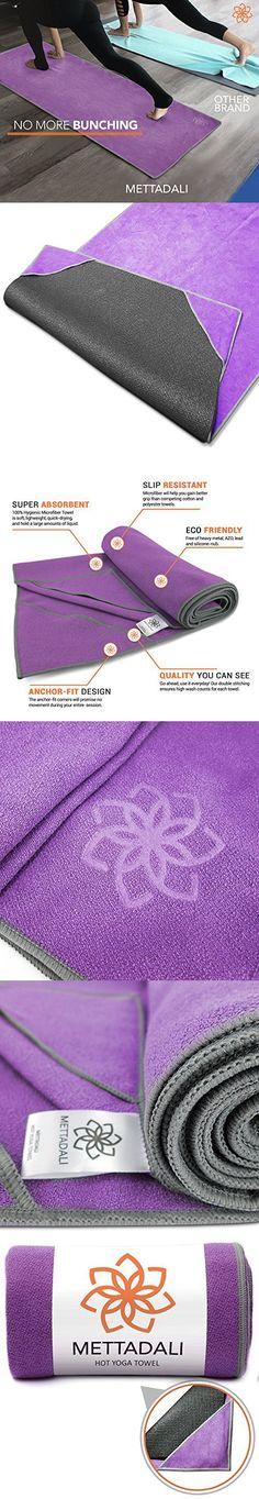 Mettadali Machine Washable Yoga Towel - Purple - Medium - 72 x 24 Inch